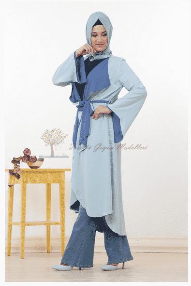 Kayra Yeni Sezon Açık Mavi Tunik Modeli