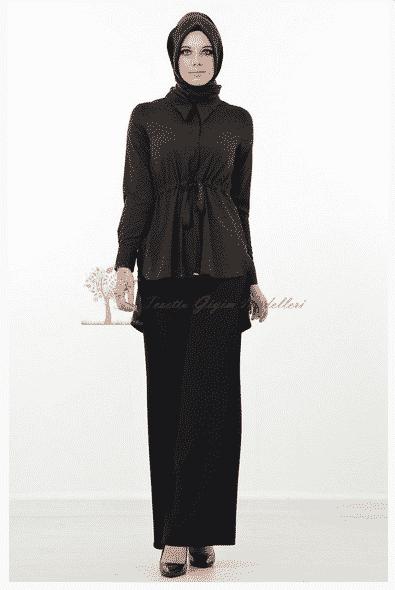 Kayra Yeni Sezon Belden Bağlamalı Tunik Modeli