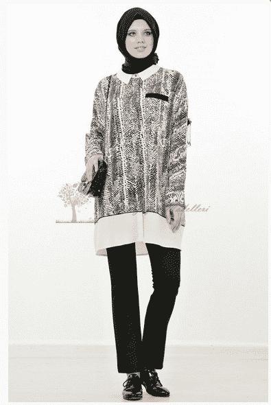 Kayra Yeni Sezon Desenli Tunik Modeli