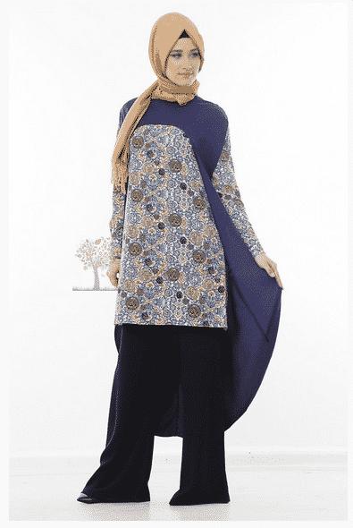 Kayra Yeni Sezon Pelerinli Tunik Modeli