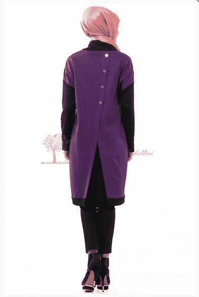 Kayra Yeni Sezon Sırtı Düğmeli Tunik Modeli