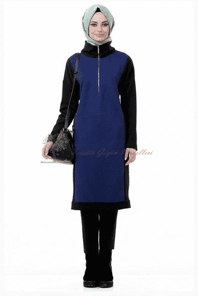 Kayra Yeni Sezon Yarı Fermuarlı Tunik Modeli