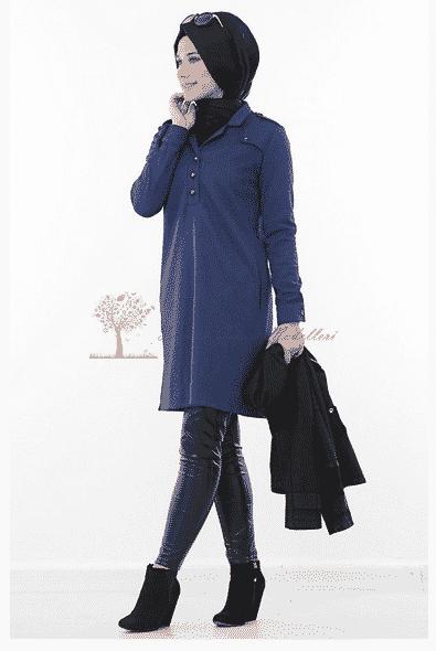 Kayra Yeni SezonYakası Düğmeli Tunik Modeli