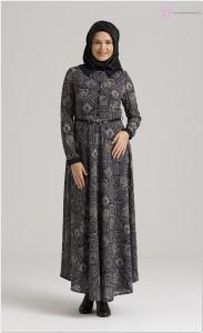 2016 Nihan Gri Gümüş Elbise