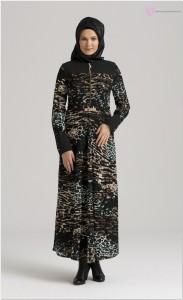 Nihan Desenli Elbise