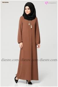 Etrucci Yaka Bağcıklı Elbise