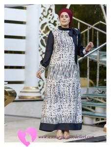Modanisa Büyük Beden Elbise Modelleri-04