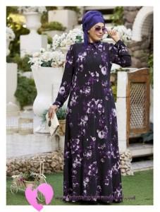 Modanisa Büyük Beden Elbise Modelleri-06
