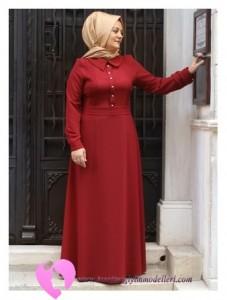 Modanisa Büyük Beden Elbise Modelleri-09