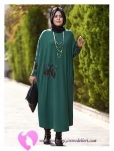 Modanisa Büyük Beden Elbise Modelleri-13