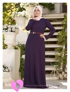 Modanisa Büyük Beden Elbise Modelleri-21