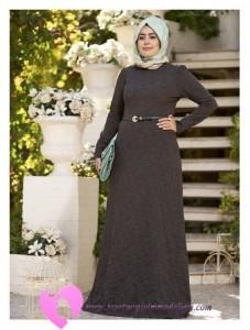 Modanisa Büyük Beden Elbise Modelleri-26