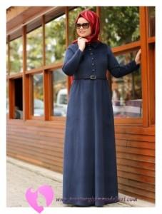 Modanisa Büyük Beden Elbise Modelleri-55