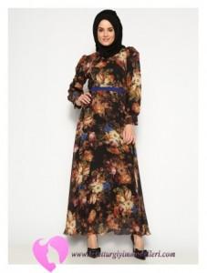 Modanisa Büyük Beden Elbise Modelleri-67