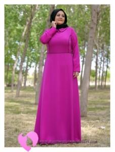 Modanisa Büyük Beden Elbise Modelleri-72