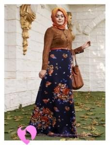 Modanisa Büyük Beden Elbise Modelleri-89