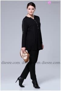 Siyah Cepli Bluz