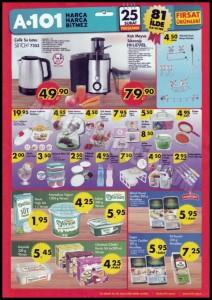 A101 25 Şubat Mutfak Ürünleri Katalğu