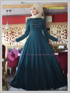 Nurbanu Kural Tesettür Elbise Modelleri-16