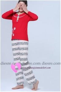 Çizgili Pijama Modelleri