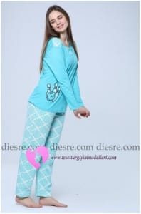 Mavi Pijama Modelleri