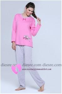 Pembe Pijama Modelleri
