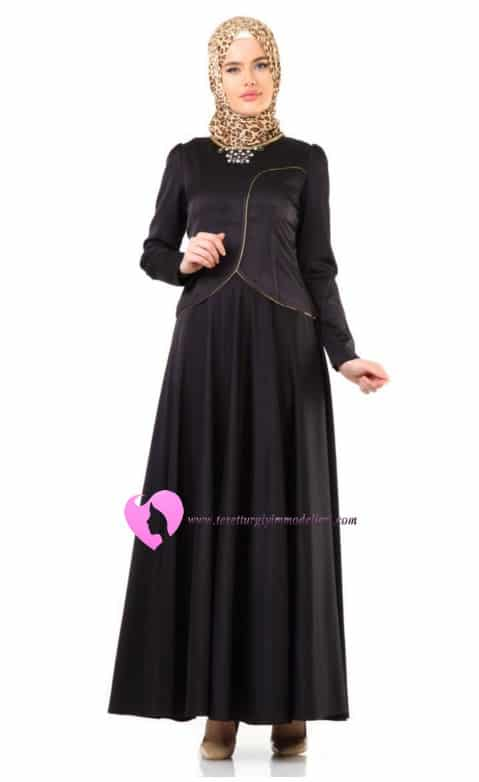 Abiye Elbise Puane Siyah