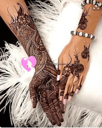 Düğünlerde Yapılan Hint Kınası Modelleri