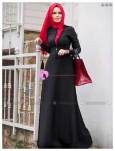 Müslima Wear Siyah Elbise 002