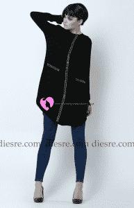 Jupe Siyah Tunik