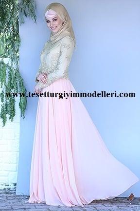 Şık Tozlu Abiye Elbise Modelleri