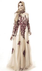 Setrms Çiçek Motifli Abiye