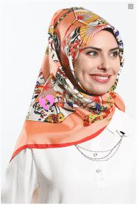 Tekbir Somon Eşarp Modeli