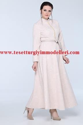 Tozlu Büyük Beden Tesettür Elbise