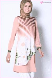 Çiçek Desenli Tunik Modelleri