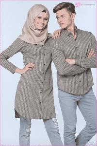 Camel Gömlek Çift Giyimi