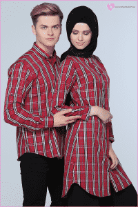 Tozlu Ekoseli Gömlek Çift Giyim