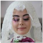 Tesettür Gelin Makyajı Modelleri 2017