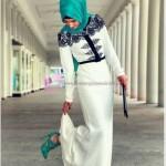 Dantel İşlemeli Tesettür Elbise Modelleri