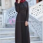 Pileli Tesettür Elbise Modelleri