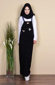 Salopet Elbise Tesettür Giyim Modelleri