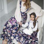 Anne Kız Çift Giyim