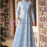 Dantelli Tesettür Mezuniyet Elbisesi