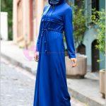 Diesre Ferace Mavi Beli Büzgülü