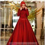 2019 Tesettür Abiye Modelleri Kırmızı
