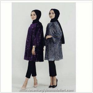 Payetli Tunik Modelleri