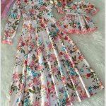 Çiçekli Elbise Kombini