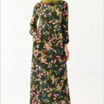 Çiçekli Tesettür Elbise Modelleri 2019