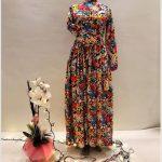 En Güzel Çiçekli Tesettür Elbise Modelleri