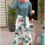 Etek Kısmı Çiçekli Elbise Modelleri
